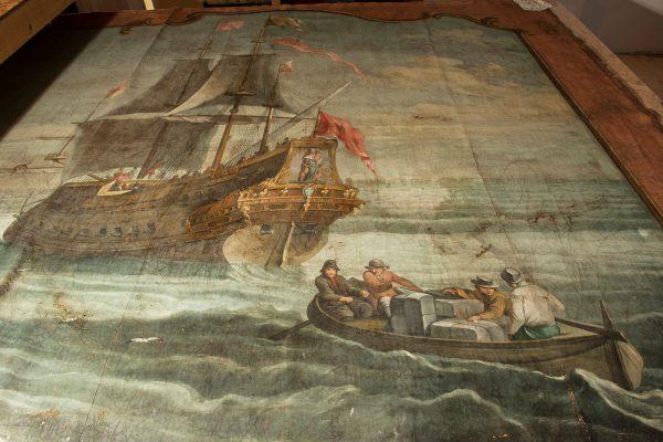 Schiffszimmer Hue de Grais Detail